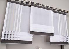 Gotowa roletka manhatta lux ekran panel cm - - Ola he Kitchen Window Blinds, Kitchen Window Coverings, Wooden Window Blinds, Blinds For Windows, Kitchen Curtains, Cheap Curtains, Diy Curtains, Curtains With Blinds, Valance