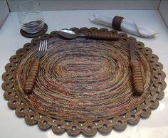 Luty Artes Crochet: artesanato de jornal ou pode ser feito por ...
