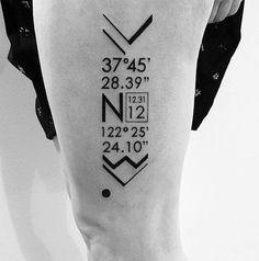 Tattoo coordenadas