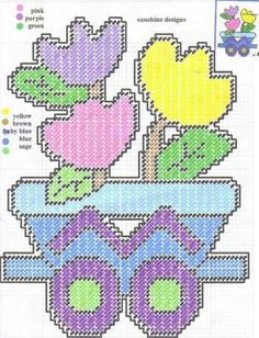 Easter Train Plastic Canvas Stitches, Plastic Canvas Patterns, Plastic Canvas Christmas, Plastic Canvas Crafts, Bunny Crafts, Easter Crafts, Perler Bead Emoji, Canvas Letters, Needlepoint Patterns