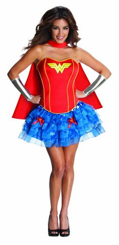 Filles Deluxe Justice League Wonder Woman Tutu Hero Fancy Dress Costume Outfit