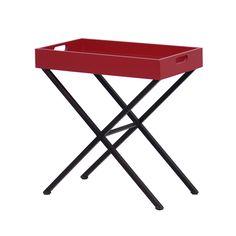 A Mesa Lateral Balacobaco possui o pé de ferro em formato de X, garantindo estabilidade e segurança, e o tampo projetado em forma de bandeja. #mesa #table #decorate #decoratingideas #design #Enjoymid #moveis
