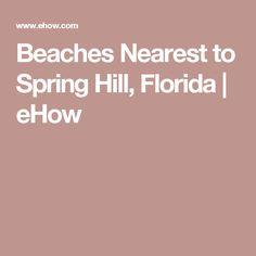 Beaches Nearest to Spring Hill, Florida | eHow