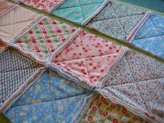 If basting and binding a quilt isn't really your thing, and if you don't particularly like quilting large quilt tops, then a rag quilt is the perfect quilt project for you. :) With a ra…
