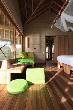 Maldives Resort Six Senses Laamu Maldives Resort, Resort Spa, Senses Spa, Resort Interior, Hotels And Resorts, Luxury Hotels, Island Life, Rustic Chic, Bungalow