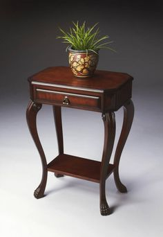 Plantation Cherry Channing Traditional Dark Brown Console Table