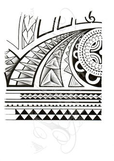 Im 2012, A4 sakura graphic pens, pigma microns and touch marker. Commissioned polynesian 3/4 sleeve tattoo commission design, forearm and elbow. This is a PAID COMMISSION DESIGN, please DON'T use it o...
