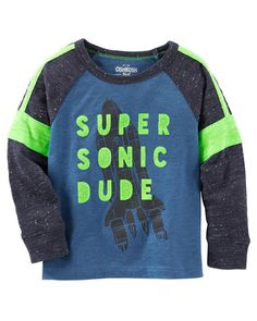 Kid Boy Super Sonic Nep Yarn Tee from OshKosh B'gosh. Shop clothing & accessories from a trusted name in kids, toddlers, and baby clothes.