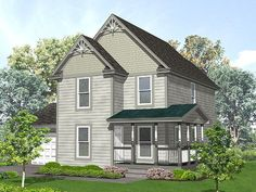 3 bed, 2.5 bath, basement Two-Story House Plan, 016H-0014