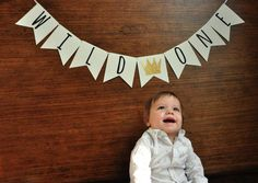 """Confetti Momma's """"Wild One Banner"""" can be the perfect addition to your wild one party decor! This Wild One First Birthday Banner is great to hang as a smash cak"""