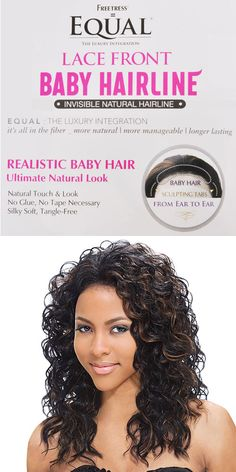 Synthetic Lace Front Wig FreeTress Equal Baby Hair Line Abby