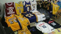 Kobe Bryant Jerseys from his career