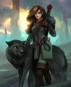 Female Ranger - Crowfall, Dave Greco on ArtStation at https://www.artstation.com/artwork/female-ranger-crowfall