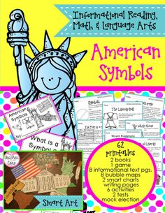 I have added 6 art projects to a my existing TpT Top Seller AMERICAN SYMBOLS!    On sale for a limited time!    115 pages of Informational text, Common Core Skills, Assessment to fill your grade book, Art to make your room stunning, Graphing, Text Dependent Questions, Fluency directions, and Oral Speaking Projects!    What more could anyone want? Highly engaged students, a full grade book, and gorgeous classroom! Sign me up!