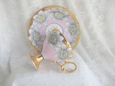 Vintage #Hand-Painted #Gilded #Teacup #Lusterware Porcelain Artmark $26 http://www.rubylane.com/item/469850-03-14/Vintage-Hand-Painted-Gilded-Teacup-Lusterware
