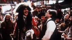 "Robin Williams, here in a scene with Dustin Hoffman, plays the grown-up Peter Pan in the 1991 film ""Hook. Robin Williams Death, Robin Williams Movies, Hook Movie, I Movie, Maisie Williams, Peter Pan Hook, Peter Pan Movie, Go To Movies, Steven Spielberg"