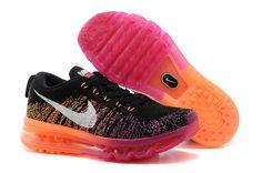Womens Nike Flyknit Air Max Black Pink Orange