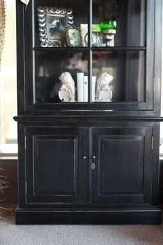 Abode Fine Living | cupboard | home accent | home essential | black cupboard | sleek | simple design | glass doors |