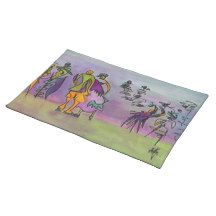 Dance gone wild...watercolor placemats.