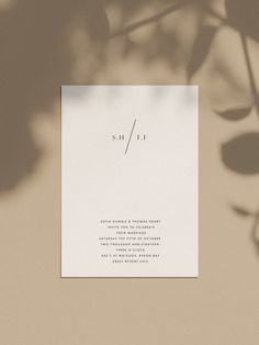 modern simple minimal wedding invitations stationery