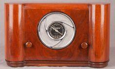 ART Deco 1938 Grunow 592 Wood Chrome Vacuum Tube Radio   eBay
