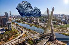 Como seria se o cometa 67/P estivesse sobre a cidade de São Paulo? - Disso Você Sabia ?