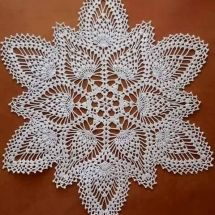 Home Decor Crochet Patterns Part 47 - Beautiful Crochet Patterns and Knitting Patterns Free Crochet Doily Patterns, Crochet Placemats, Crochet Doily Diagram, Filet Crochet Charts, Granny Square Crochet Pattern, Crochet Art, Thread Crochet, Crochet Motif, Crochet Crafts