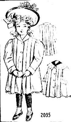 Small girl's coat, Ladies Home Journal- 1906.