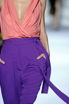 DVF | Spring 2011: Peach & Purple