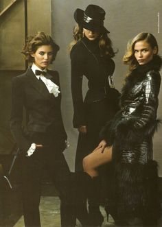 "a-state-of-bliss: "" Roberto Cavalli Fall/Wint 2005 - Bianca Balti, Nataliya Gotsiy & Natasha Poly by Annie Liebowitz, my scan """