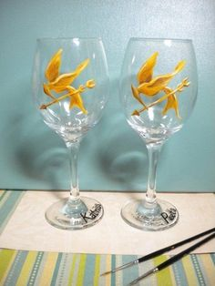 Oh wow! Here are the goblets you could use! Just for you and Kevin though. Everyone else would have regular ones.