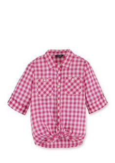 Chaps  1GINGHAM WOVEN TOP PINK