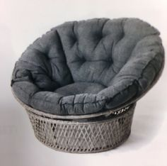 (1) FINN – Cocoon - romslig kosestol m/tykk grå pute