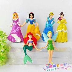 6 figure set Ariel cinderella tinkerbell etc diy bling phone deco Resins, Ariel, Tinkerbell, Craft Supplies, Cinderella, Snow White, Bling, Animation, Deco