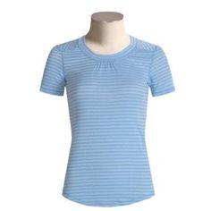 ExO Dri Pointelle shirt. blue. UPF 30 23.95. Fast drying moisture wicking.