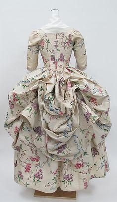 Robe à la Polonaise Date: ca. 1780 Culture: French Medium: silk Accession Number: 1976.146a, b