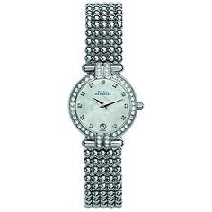 Womens Stainless Steel Perle Bracelet Watch.