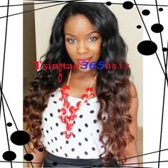 Fashion Beyonce Peruvian Virgin Hair U Part Wigs Two Tone Color #1BT#30 Blonde Ombre Body Wave Hair Wigs Baby Hair Free Shipping