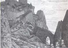 Licht nacht (Kasteel van prins Judas Iscariot) - Nicholas Roerich