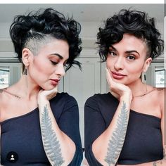 """7,663 Likes, 101 Comments - PixieCut  ShortHair  Blogger (@nothingbutpixies) on Instagram: """"Do you love the hair or the tattoo more on @beautybyrachelrenaepaz  Did you even notice a tattoo???"""""""