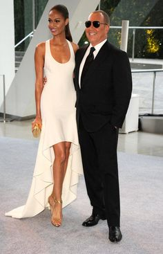 2012 CFDA Awards   Joan Smalls wearing Michael Kors and posing with the designer.