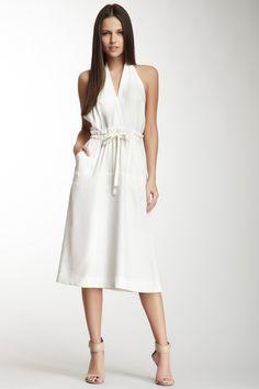 Halter Silk Self-Tie Dress