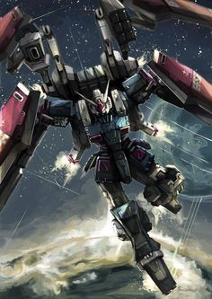 a collection of gundam artwork from around the web Gundam Wing, Gundam Art, Thunderbolt Gundam, Macross Valkyrie, Gundam Wallpapers, Phone Wallpapers, Gundam Mobile Suit, Sci Fi Armor, Gundam Seed