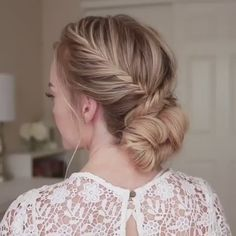 """Best Hairstyles  ღ on Twitter: """"This fishtail French braid low bun is so beautiful 😍 https://t.co/LYdV5ZFe3p"""""""