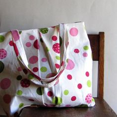 Polka Dot Purse Shoulder Bag Large by SouthernTwistedBags on Etsy, $95.00