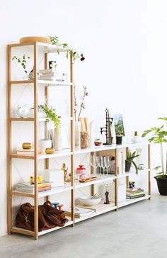 "EQ3 Grow Shelving Unit:  Short w/36"" shelf $349 Short w/2x24"" shelf $593 As shown Tall w/24"" & short w/36"" $842 (sold out)"