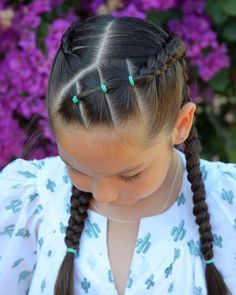 Dutch braids with elastics for a birthday party Have a great day! Dutch braids with elastics for a birthday party Have a great day! Cute Little Girl Hairstyles, Baby Girl Hairstyles, Kids Braided Hairstyles, Baddie Hairstyles, Toddler Hairstyles, School Hairstyles, Braided Updo, Protective Hairstyles, Little Girl Hairdos