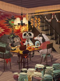 Illustrations for a children's book Moscow, Russia2015