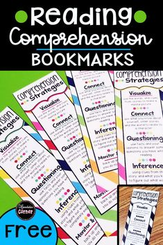 Looking for the perfect reading comprehension anchor chart for your or grade struggling readers? These free printable bookmarks are a great way to support comprehension strategies while students are independently reading! Reading Strategies Posters, Reading Comprehension Strategies, Comprehension Activities, Phonics Activities, Reading Intervention, Reading Skills, Printable Bookmarks, Free Printable, Narrative Writing Prompts