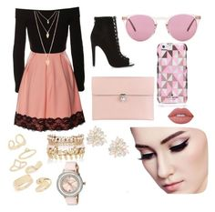 """""""Untitled #75"""" by madriz-soamdi on Polyvore featuring River Island, Alexander McQueen, Oliver Peoples, Kate Spade, Lime Crime, Topshop, Forever 21, Cara and Ted Baker"""